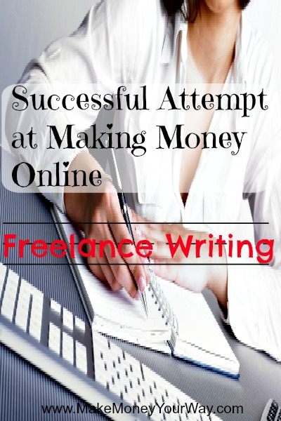 Successful attempt at making money online: Freelance writing