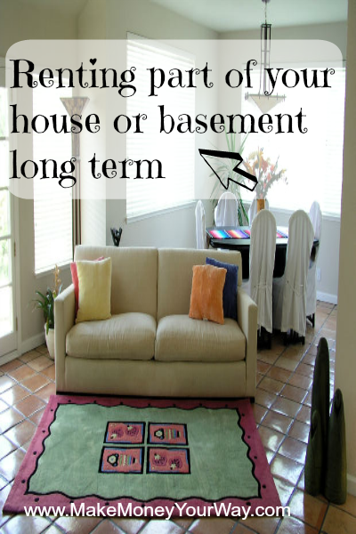 Renting part of your house or basement long term