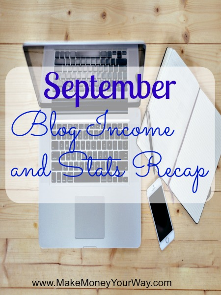 September blog income and stats recap