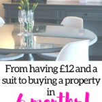 From having £12 and a suit to buying a property in 6 months!