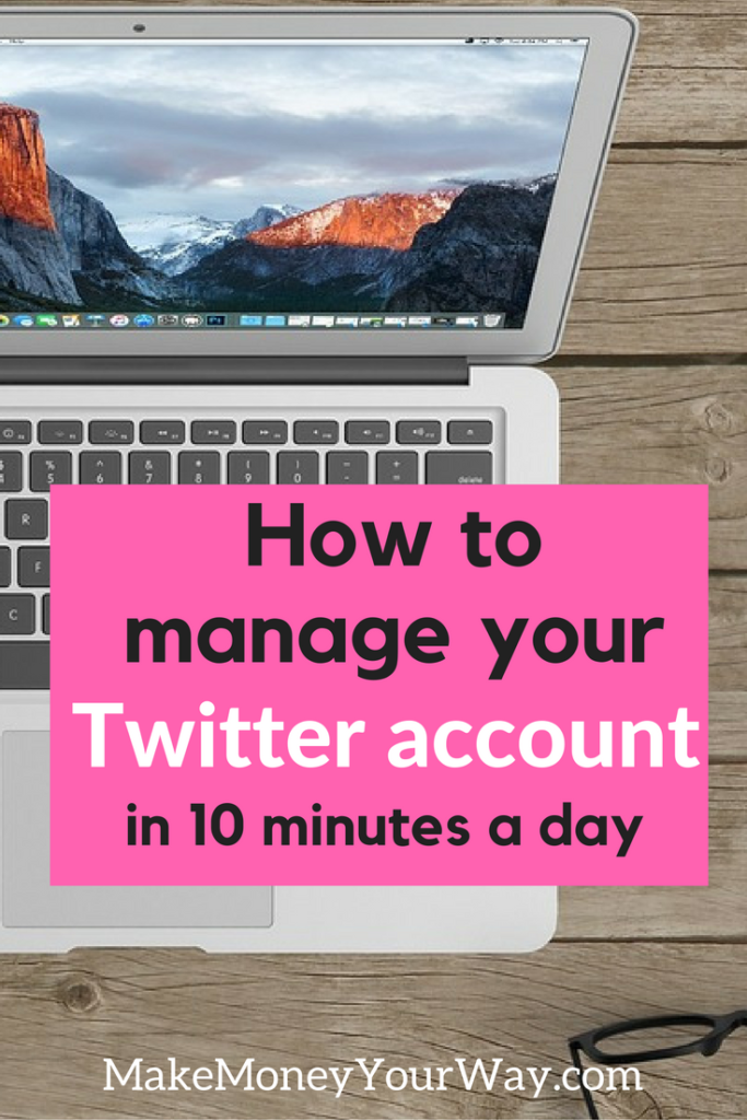 How to manage your Twitter account in 10 minutes a day. Social medias are a very powerful tool to enhance your blogging, share your posts with the world and form an engaged community around your blog. But it can be really time consuming, so today I want to share a few tips if you want to reduce the time spent managing your social accounts.