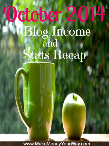 October 2014 blog income and stats recap