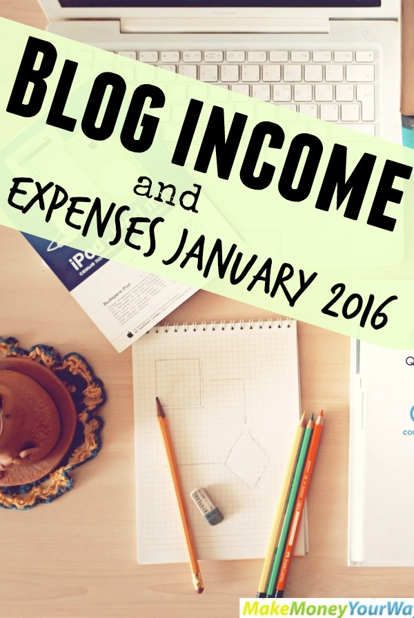 Blog income and expenses January 2016