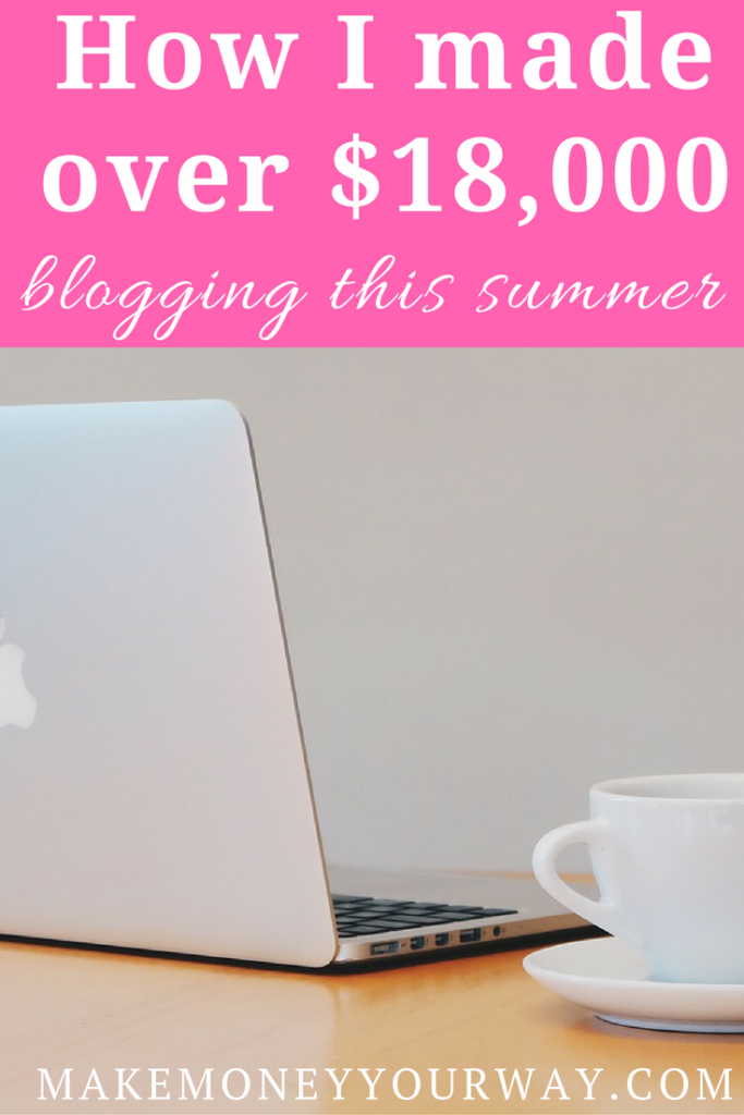 Find out how I made over $18,000 blogging this summer! I LOVE THIS! I am planning on investing more on the blogs during Q3, but don't know where to as of now.